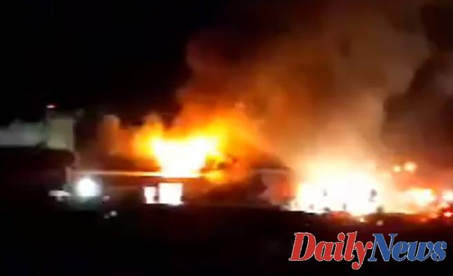 Washington potato factory fire prompts evacuation over ammonia explosion fears