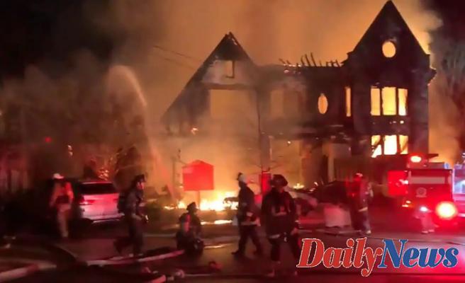 Huge fire home near DC's Embassy Row; firefighter hurt