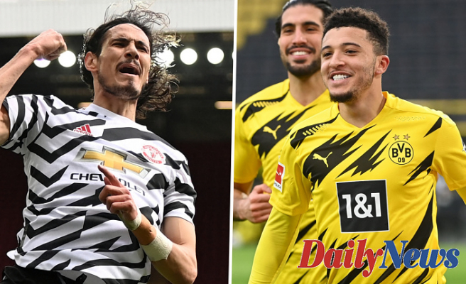 Manchester United Would Rather Signal Jadon Sancho over Tottenham striker Harry Kane and will allow Edinson Cavani to Maintain the fort till Erling Haaland Renders Borussia Dortmund