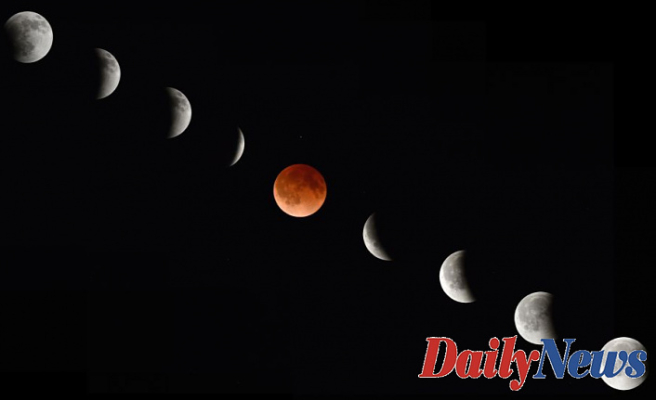 What time will the'Super Flower Blood Moon' eclipse begin?