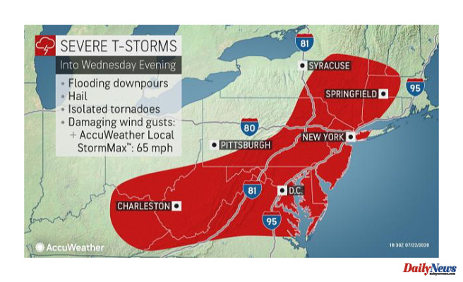 AccuWeather Alert: Flash flood, severe thunderstorm warnings issued for Portions of NY