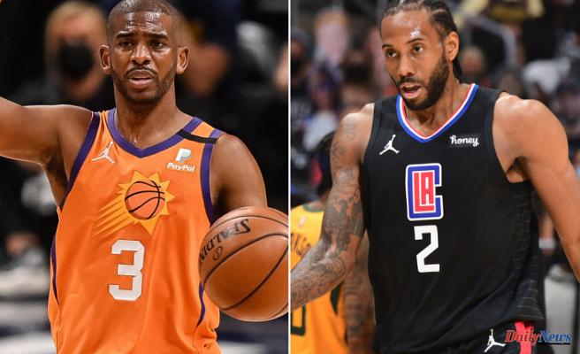 Chris Paul, Kawhi Leonard Outside for Suns-Clippers Game 1