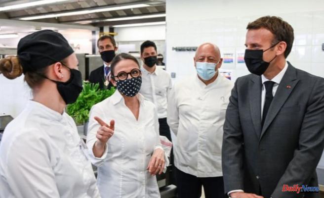 Emmanuel Macron: A man slapped the French president