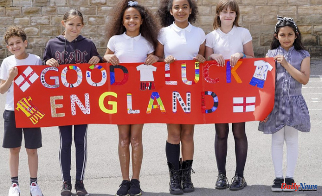 England footballers' former schools Deliver messages of support for Euro 2020 to Kyle Walker, Harry Maguire and Dominic Calvert-Lewin