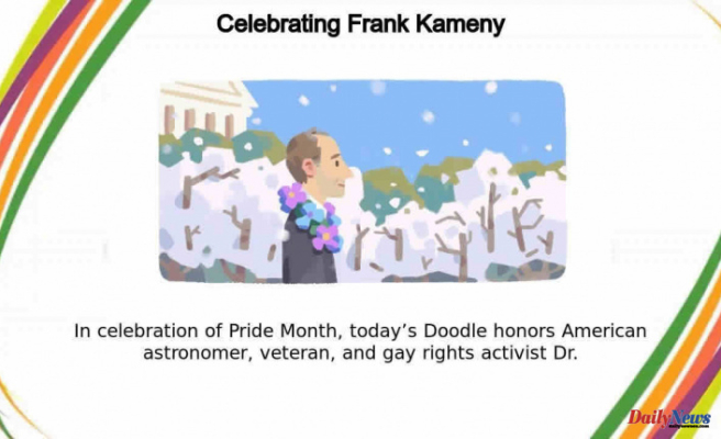 Google Doodle honors Frank Kameny, astronomer-turned-activist, for Pride Month