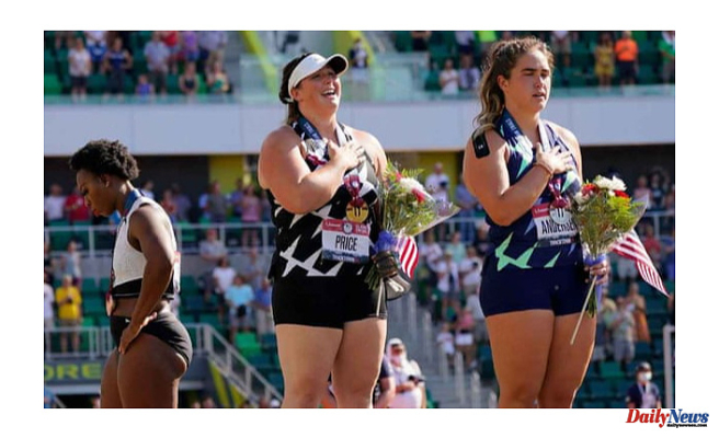 Gwen Berry moves away from the flag at US Olympic trials, and claims she was'set-up'