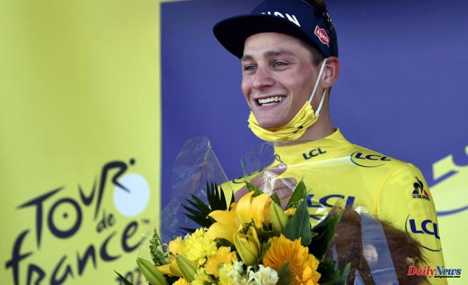 Mathieu van der Poel wins yellow jersey on the Tour de France stage