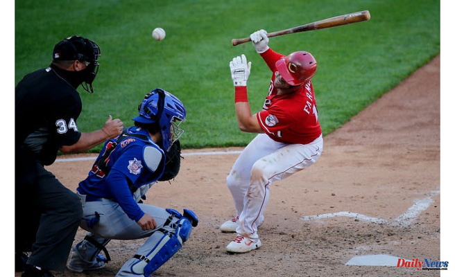 Part of This game? Cincinnati Reds have been struck by MLB-leading 40 pitches