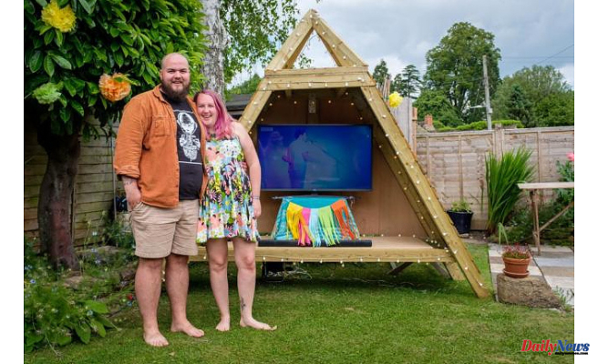 South Somerset's Felicity Cooney & Freddy Bevan are holding their own Glastonbury in their garden