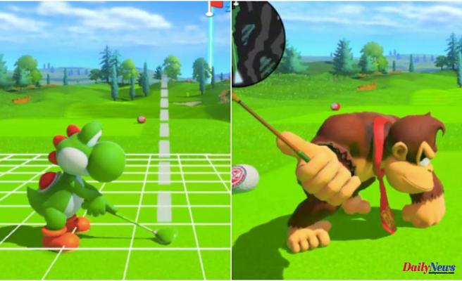 "The terror at Yoshi and Donkey Kong's pantslessness in ""Mario Golf"""