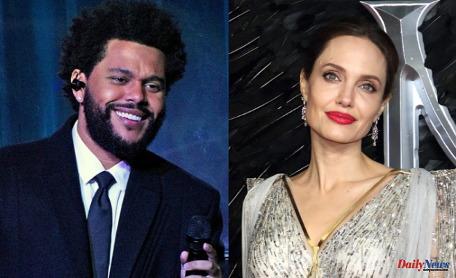 Angelina Jolie and The Weeknd were seen out for dinner together