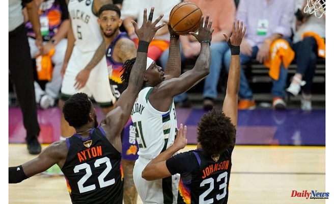 Bucks beat Suns 123 to 119 to win the NBA Finals by a 3-2 margin