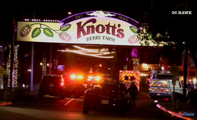 Knott's Berry Farm crowds run in panic after drive-by shooting outside of park wounds 2 teens
