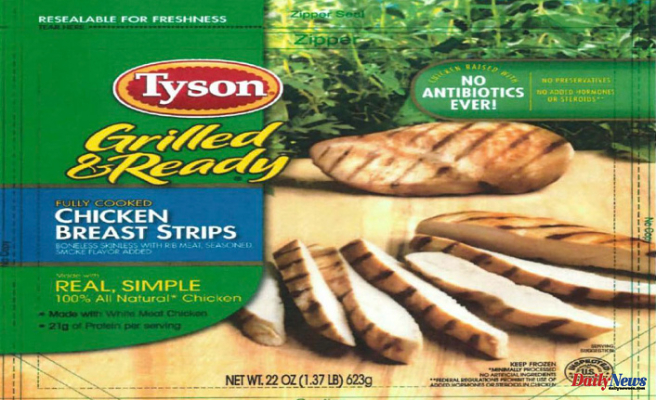 Tyson chicken recall 2021 - List of ready-to-eat products under recall