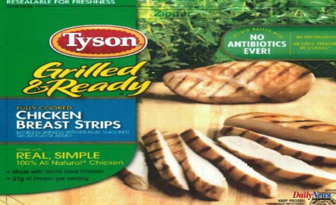Tyson recalls 8,000,000 pounds of chicken products following the death of a person with listeria