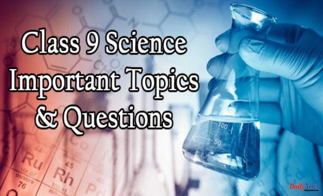 Class 9 Science Exam - Most Important Topics