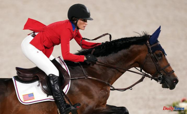 Jessica Springsteen, Bruce Springsteen's daughter, wins silver in the equestrian team jumping finale