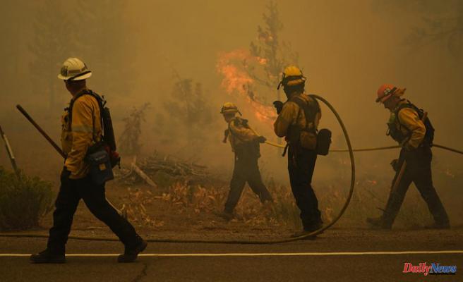 After mass evacuation, California fire engulfs Lake Tahoe