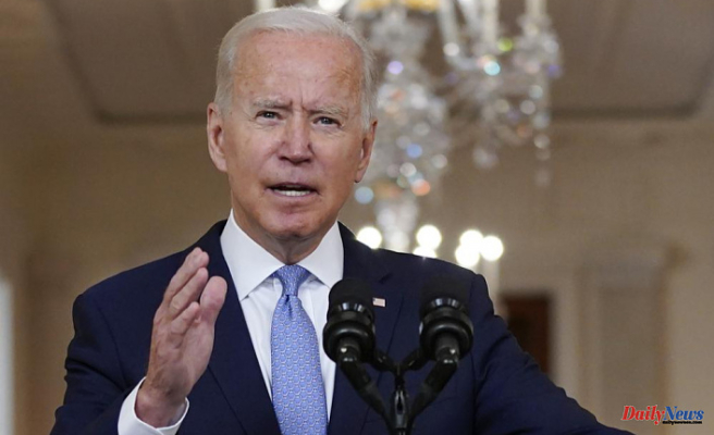 """Biden defends the departure from """"forever war"""", praises airlift"""