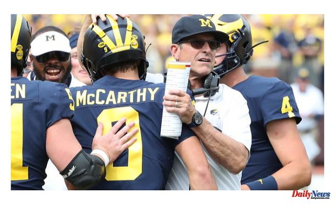 Next week, Harbaugh's Michigan football team is embarrassed by Washington