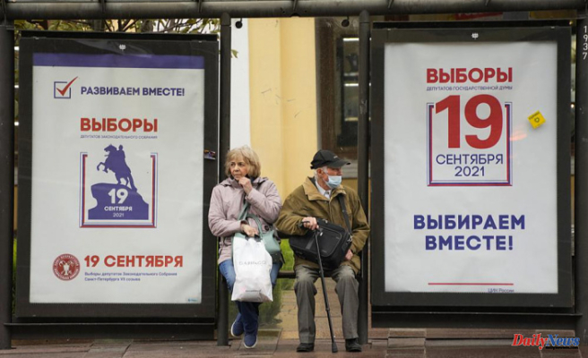 Russia votes in the election for parliament without main opposition