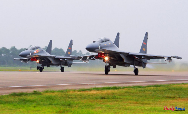 China's warplanes fly south of Taiwan, raising concern in the US