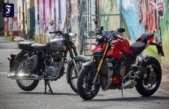 Royal Enfield and Ducati: Pötpötpöt against the but of a joke