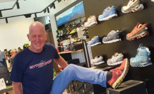 Ski-Idol, Peter Müller opened a sports shop in Einsiedeln - view