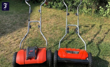 Hand lawn mower in the Test: sports on the spindle