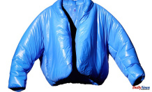 Kanye West's first piece from Yeezy Gap Set is a 200 blue'Round Jacket'