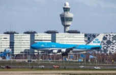 The last of the iconic Boeing 747 KLM landing at amsterdam Schiphol airport