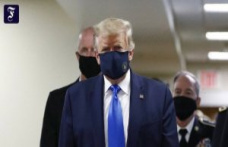 Washington: Trump wears a mask when visiting the military hospital
