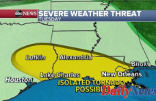 Severe weather moves to Gulf Coast as damaging winds, hail and flash flooding Anticipated