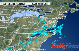 Winter storm system bringing rain, snow, strong winds...