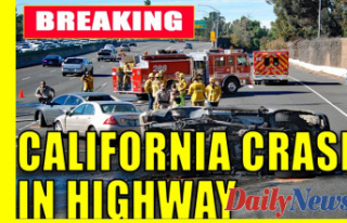 California crash leaves highway officer, tow truck...