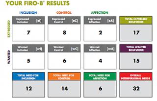 FIRO-B Assessment Tool for Business Development