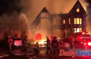 Huge fire home near DC's Embassy Row; firefighter...