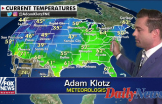 National weather Prediction: Above average temperatures...