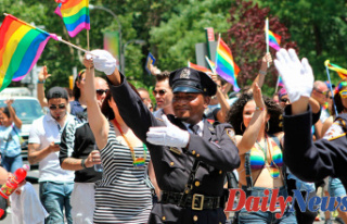 NYPD officers react to ban from New York City Pride...