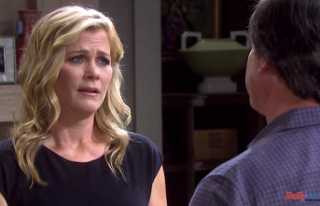 A Shocked Sami Opens the Door to EJ After Lucas Pours...