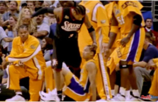 Allen Iverson's iconic step over Tyronn Lue is...