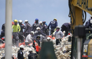 Crews spend fifth day on top of a shaky pile collapsed...