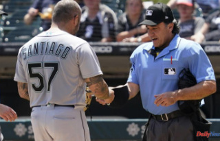 Mariners' Santiago was suspended for 10 games...