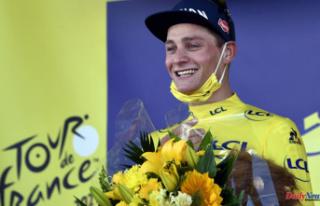 Mathieu van der Poel wins yellow jersey on the Tour...
