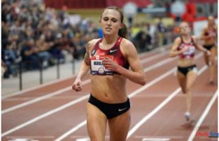 Record-setting American middle distance runner Shelby...