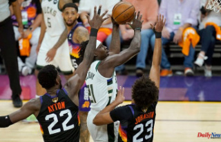 Bucks beat Suns 123 to 119 to win the NBA Finals by...