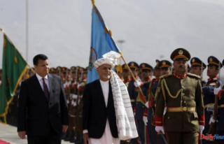 Before slipping into exile, the Afghan president was...