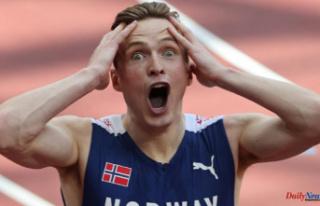 Karsten Warholm breaks the 400m hurdles record to...