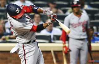 Washington Nationals' lineup with the New York...