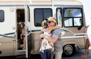 Donated RVs offer hope for wildfire victims who are...